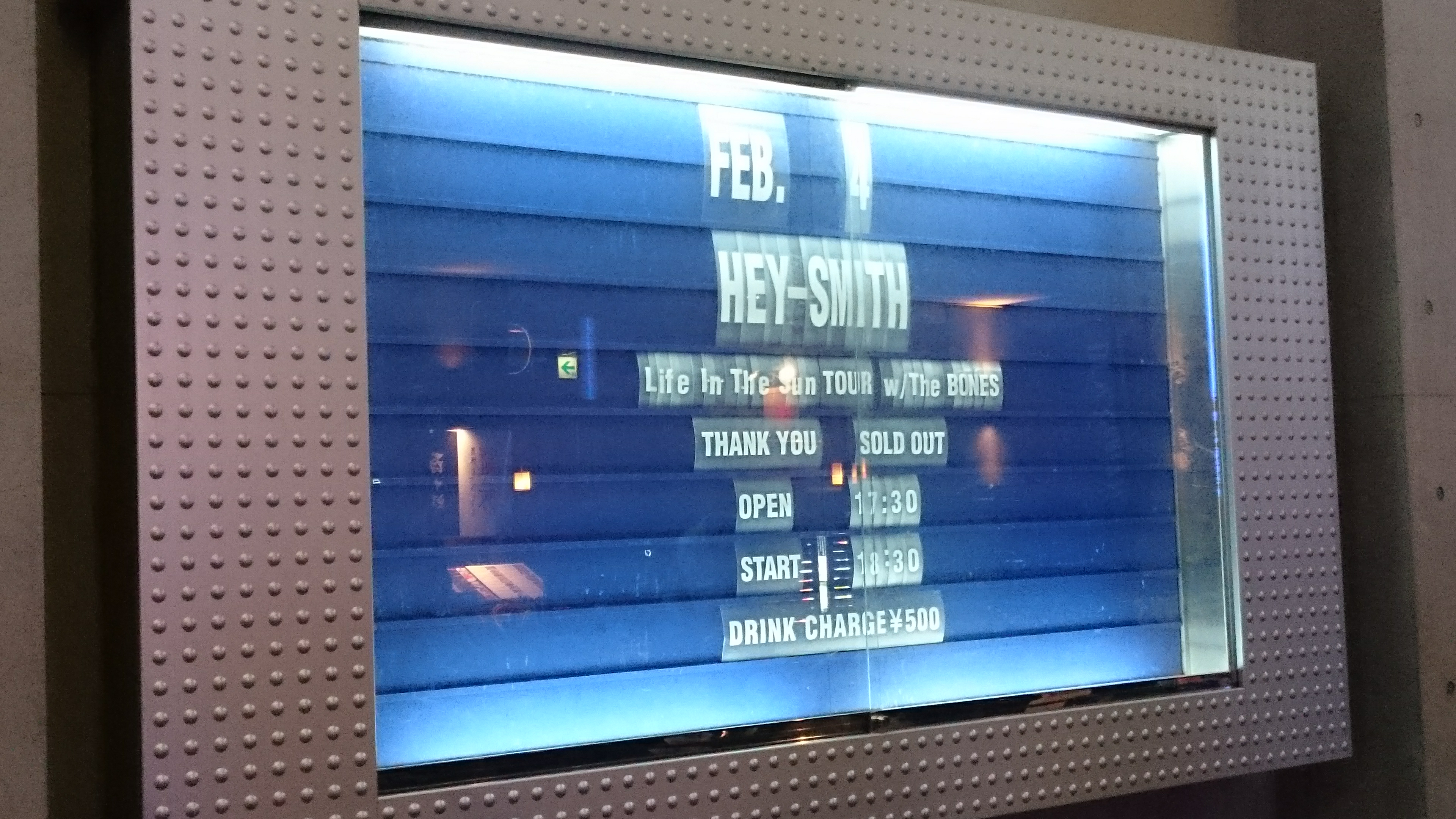 """HEY-SMITH """"Life In The Sun Tour"""" in 川崎チッタが最高だった話"""